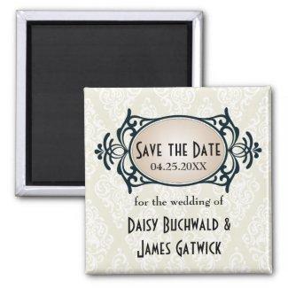 art deco save the date personalized announcement zazzle. Black Bedroom Furniture Sets. Home Design Ideas