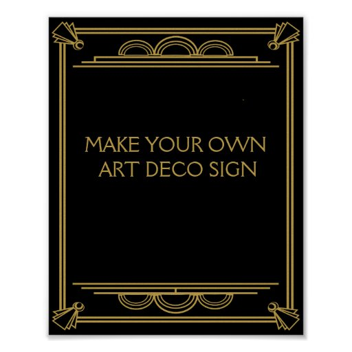 Custom Wedding Art Poster: Art Deco Wedding Or Party Sign Make Your Own Poster