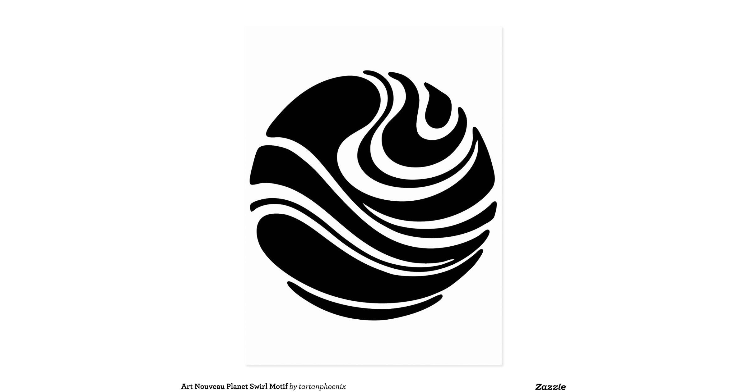 art nouveau planet swirl motif postcard r58eddbcc8db0404e833210be50905f37 vgbaq 8byvr. Black Bedroom Furniture Sets. Home Design Ideas