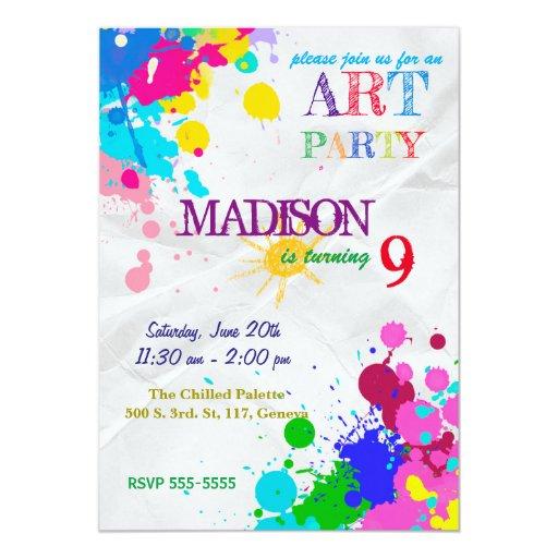 Art / Painting Party Birthday Invitation
