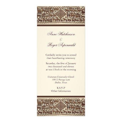 Handfasting Invitation: Asatru Handfasting 4x9.25 Paper Invitation Card