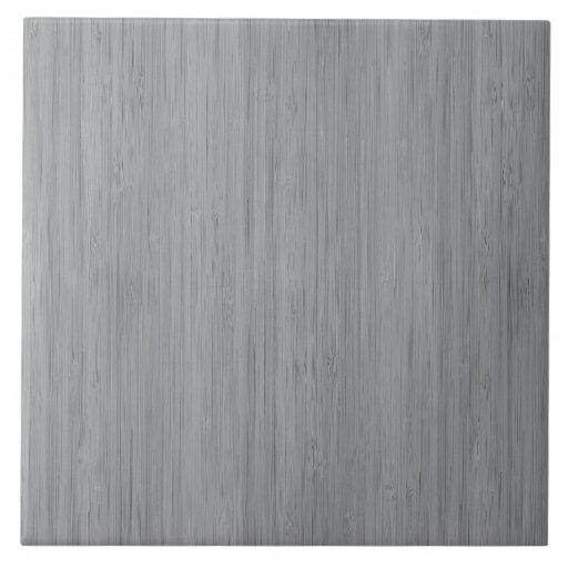 Ash Gray Bamboo Wood Grain Look Ceramic Tile