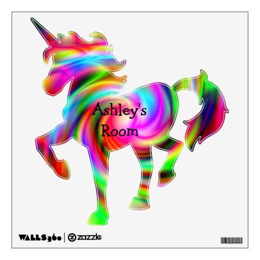 Www Ashleys Com: Ashley's Room Colorful Unicorn Wall Decal