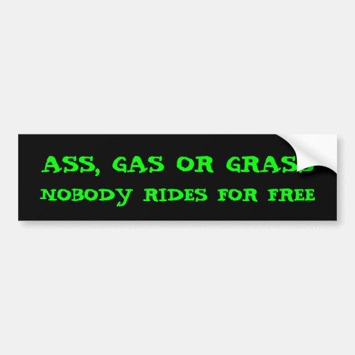 Ass cash or grass