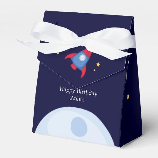 Astronaut Space Birthday Party Personalized Favor Box   Zazzle