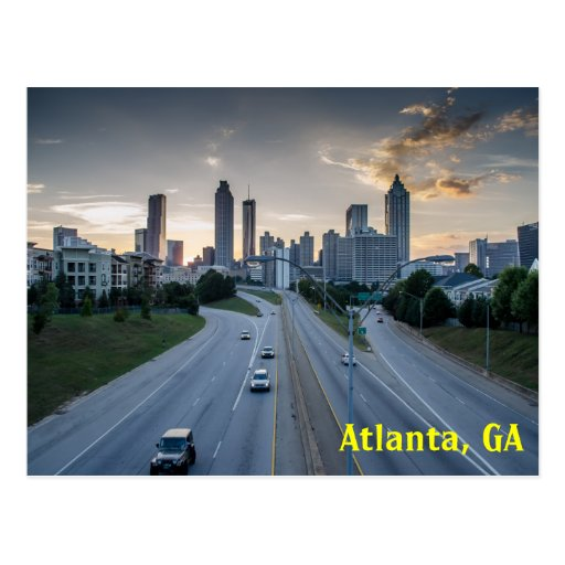 Bellwether Landscape Architects In Atlanta Ga: Atlanta Skyline Postcard