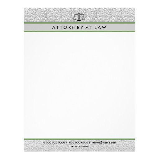 Attorney at law letterhead template zazzle for Law office letterhead template free