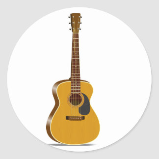 acoustic guitar stickers 4 000 custom designs zazzle. Black Bedroom Furniture Sets. Home Design Ideas