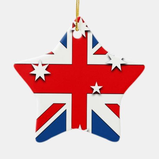 Australia Double-Sided Star Ceramic Christmas Ornament ...
