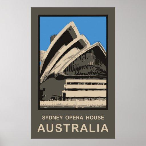 Sydney Travel Quotes: Australia Sydney Opera House Poster