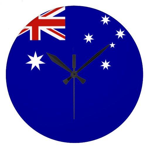 Australian Flag Round Clocks Zazzle