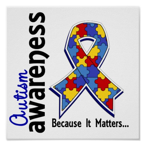 Autism Awareness 5 Posters   Zazzle