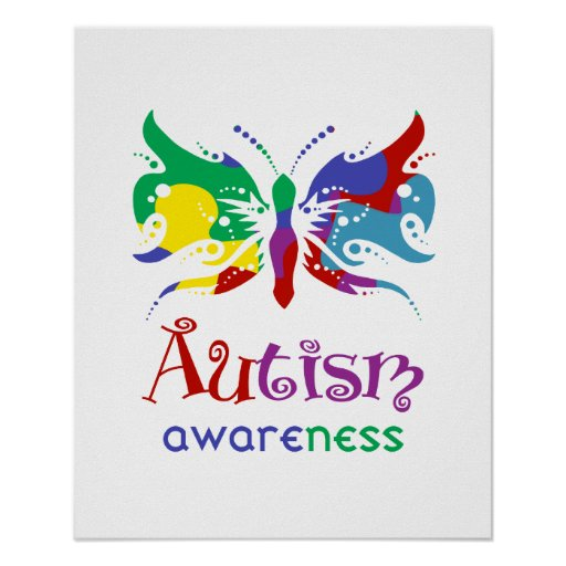 Autism Awareness Butterfly Poster   Zazzle