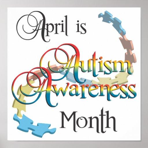 Autism Awareness Month Poster Art   Zazzle