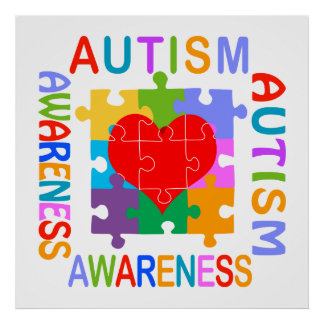 Autism Awareness Month Posters   Zazzle