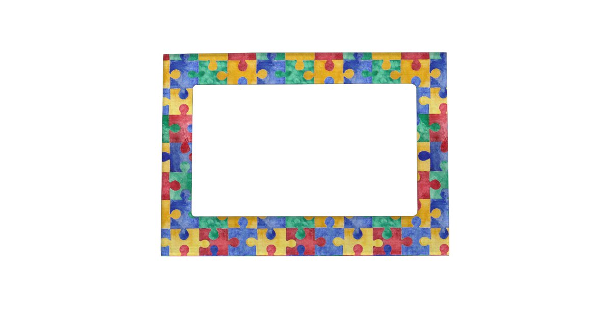 Autism Awareness Puzzle Magnetic Frame Zazzle