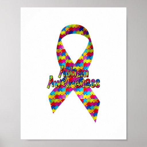 Autism Awareness Ribbon Poster   Zazzle