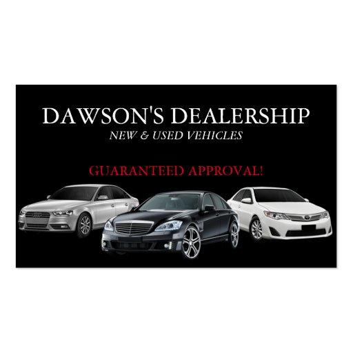 Auto, Car, Dealer Dealership Business Card   Zazzle  Car Sales Business Cards