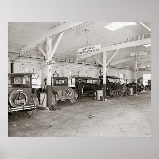 auto dealer repair shop 1926 vintage photo poster zazzle. Black Bedroom Furniture Sets. Home Design Ideas