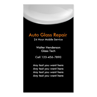 windshield business cards templates zazzle. Black Bedroom Furniture Sets. Home Design Ideas