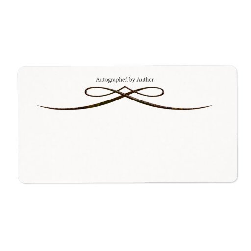 Autographed by author bookplate shipping labels zazzle for Bookplate templates for word
