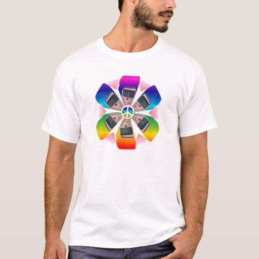 Rainbow Autoharp Flower Petal T-Shirt