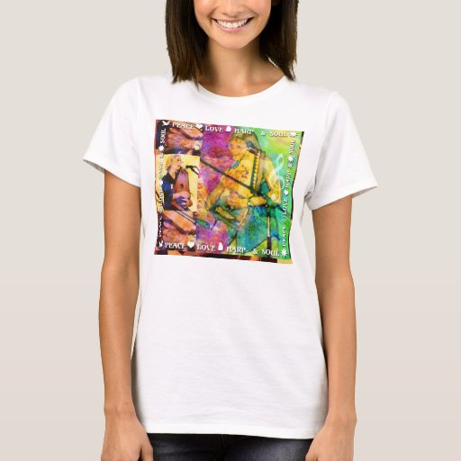 Autoharp Music Peace Love Harp T-Shirt
