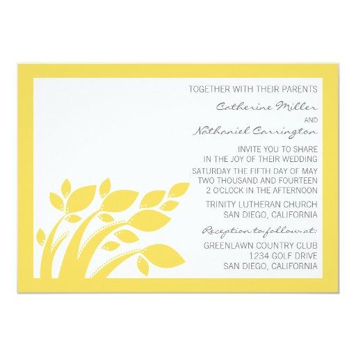 Fall Color Wedding Invitations: Autumn Foliage Wedding Invitation