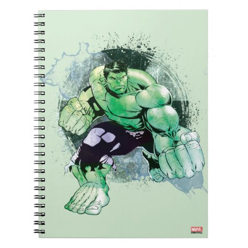 Avengers Watercolor: Avengers Hulk Watercolor Graphic Spiral Notebook