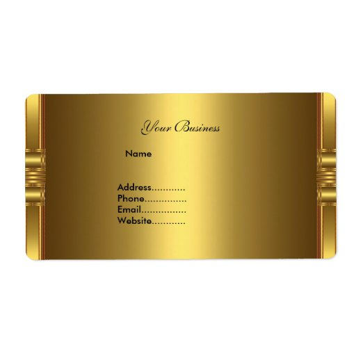 Avery Address Label Gold On Gold