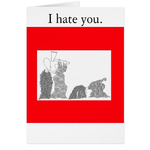 I Hate You Cards, I Hate You Card Templates, Postage