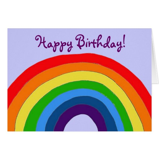 AZ- Rainbow Birthday Card