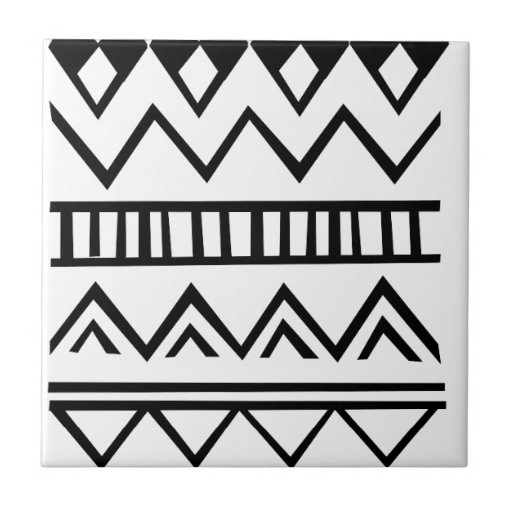 Aztec Pattern Ceramic Tile Zazzle