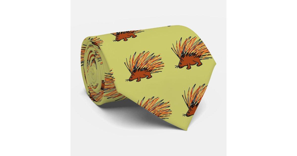 Ba Prickly Porcupine Tie Zazzle