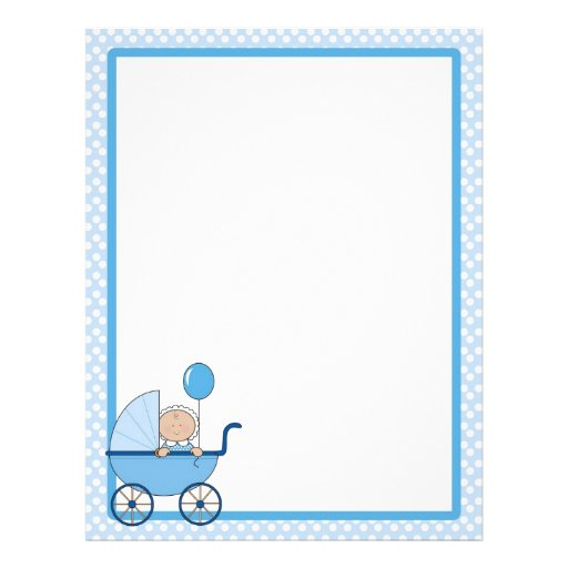 Baby Border Boy Customized Letterhead | Zazzle