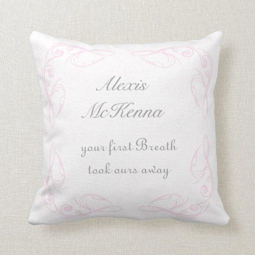 Baby Girl Quote Keepsake Throw Pillow Zazzle