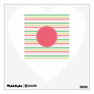 wall stickers circle striped