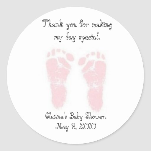 Baby shower favor stickers zazzle for Baby shower label template for favors