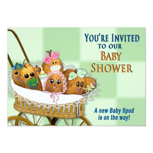 Family Baby Shower Invitations: BABY SHOWER INVITATION - POTATO FAMILY COLLECTION
