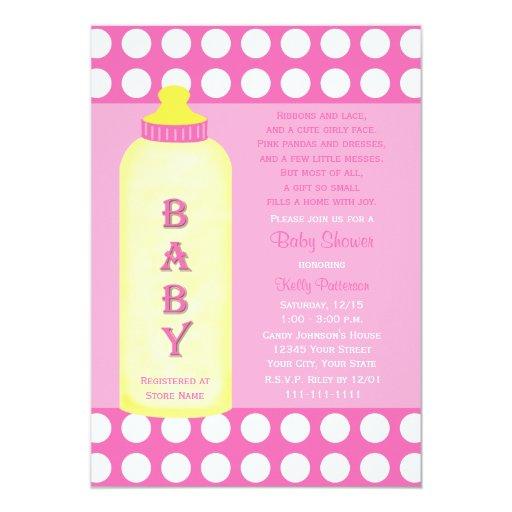 Baby Shower Poem Invitation Baby Girl