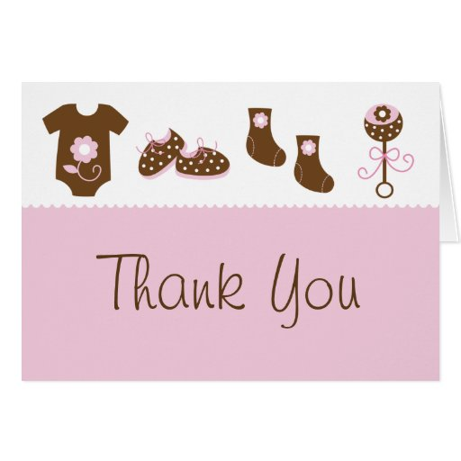 baby shower thank you cards  zazzle