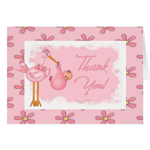 baby shower thank you note greeting card  zazzle