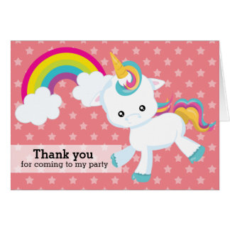 Unicorn Thank You Cards   Zazzle