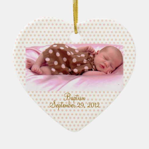 Baptism Ornaments Christening Christmas Ornaments: Baby's Baptism Birth Pink Girl Ornament Custom