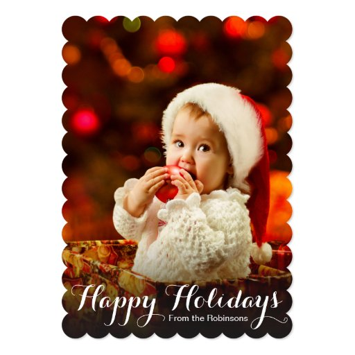 Baby's First Christmas Happy Holidays Photo Card