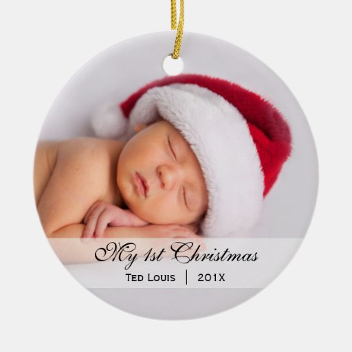 Baby's | First Christmas Photo Ornament | Zazzle