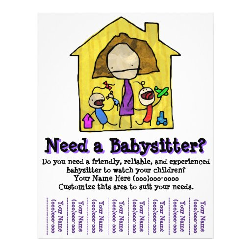 512px for Babysitting poster template