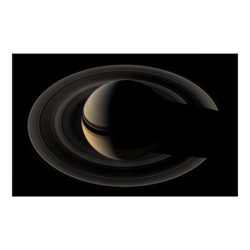 Backlit Saturn from Cassini To orbit Poster   Zazzle