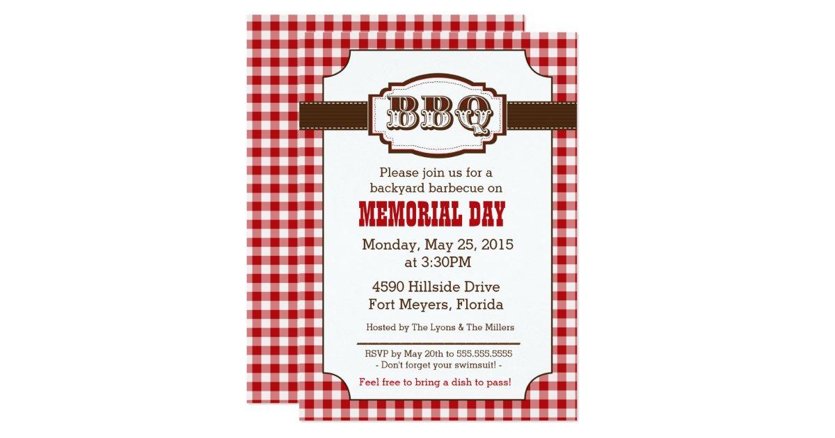 Backyard Bbq Wedding Invitations: Backyard Barbecue, BBQ Invitation, Rustic Country Card