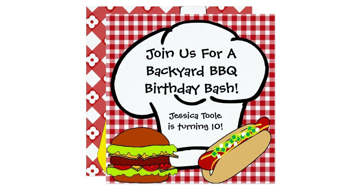 Backyard Bbq Wedding Invitations: Backyard BBQ Birthday Invitation